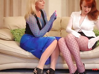 Xxx girlfriends Red xxx and her girlfriend fuck while wearing nylons