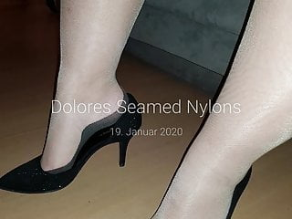 Seamed nylons cum Dolores seamed nylons