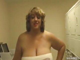 Enormous breasts cumshot - Two bbw girls with enormous boobs masturbates big cock