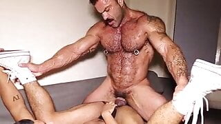 Muscle Daddy Rough Breeds His Boy