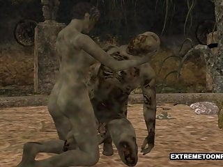 3d girl gets fucked on train 3d zombie gets fucked hard in a graveyard
