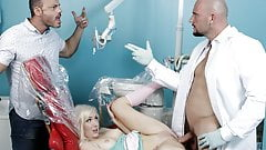 Dentist getting lucky with blonde stunner