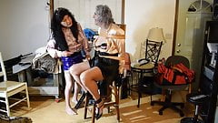 Ronni BOUND & ABUSED in Stephanie's SPECIAL CHAIR ..10-21-19