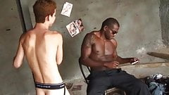 Twink used by hung black guys