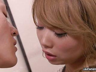 Hinata lesbian Japanese blonde, hinata aizawa likes to have position 69, un