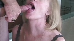 Amateur GILF Tries Out New Dildo