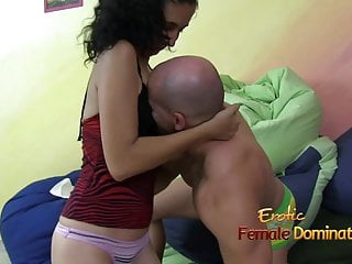 Smothered by lovers breast - Girl is smothering guys face to her small breast