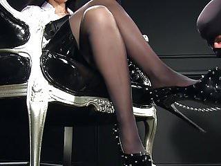 Steel studed spike strips Femdomlady spiked high heels cumshot