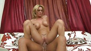 Glorious blonde MILF Tanya Tate fucks young cock