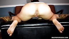 Hotwife View while she sucks her bull