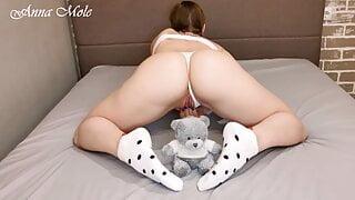 Girl with perfect body masturbates pussy. Anna Mole