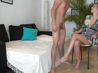 Naked black goddess Girlfriend watching his boyfriend cums inside black goddess