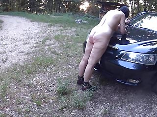 Spank on porn Sklavin-z the outdoor-session continues part 2-4