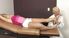 Lesbian Doctor Worships Patients Feet