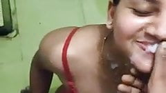 Desi wife, blowjob and facial with Hindi audio