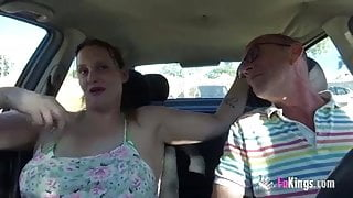 Exhibitionist couple looks for bulls at the beach