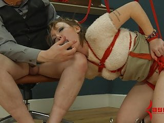 Long tube bondage pain - Assmouth 2: painful anal destruction for skinny masochist