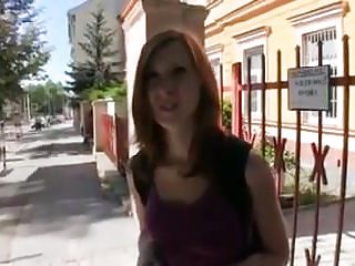 Pouty redhead Teen does public anal to get out of trouble