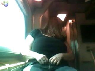 Big tits public flashing - Mature bbw public flashing on a train