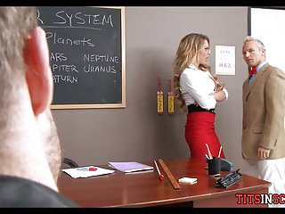 Milf teacher gets back at husband - School bad boy gets back at teacher