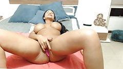 Huge Boobs Latina Masturbating