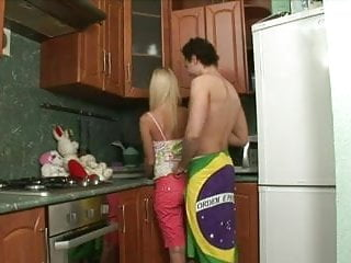 A fuck in the kitchen Teen blonde alisa fuck in the kitchen