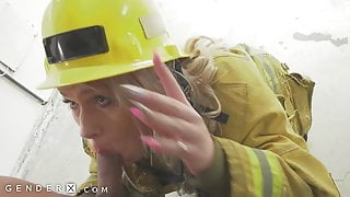 GenderX - Getting Fucked Raw By Trans Firefighter
