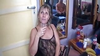 French milf with some black guys