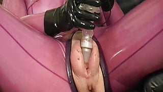 Pumped pussy in latex - part 2