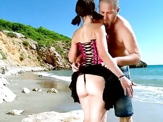 Bottom of the sea but Mandy with pigtails analfucked in front of the sea