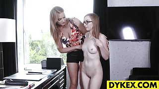 Les Casting With Gracie Green And Rachael Cavalli