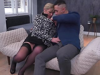 Old ass and pussy Boy fucks granny in ass and pussy