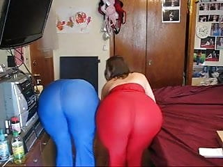 Stormy lesbian - Mistress stormy and not her sister showing their asses