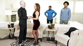 Big Ass Febby Twigs Takes BBCs In Front Of Her Cuckold Hubby