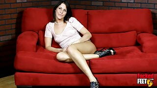 Innocent College Brunette Ammie Is A Hot Foot Fetish Amateur