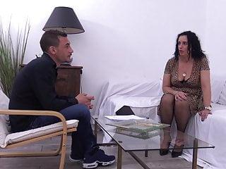 Slut mom anal fucking tube Black stockings, french milf slut leila fucking hard on sofa