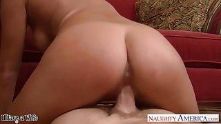 Sexy wife Kennedy Leigh taking cock