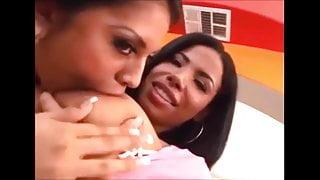 Lesbian Suck Big Tits Areola Ebony & Latina Part.1