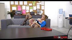 Caught Masturbating in the lounge room