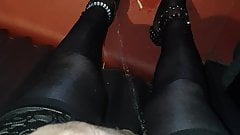 Few cocktails later went to piss my stocking feet in pub toi