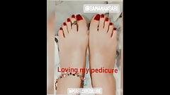 Saman Ansari's heavenly beautiful feet