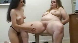 Slim girl punish big girl