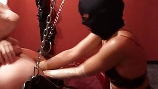 Double Anal Fisting in the Sling, Adelina & Fistdude No. 04