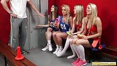 Sporty cfnms cocksucking their coach