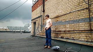LanaTuls - Lets get nacked on the roof. First outdoor scene.