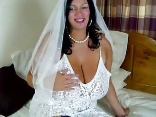 Cocks in bridal gowns - Bridal masturbating simone