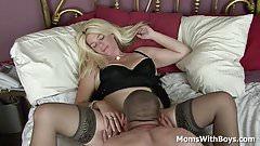 Blonde Mature Sundara Spreads Wide Legs For Cock Fucking