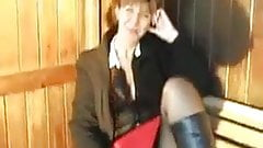 UK Sarah in boots and stockings, love it!