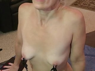She rides a bull orgasm sybian She cums hard with my cock in her mouth