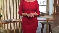 Hot Blonde In red Dress